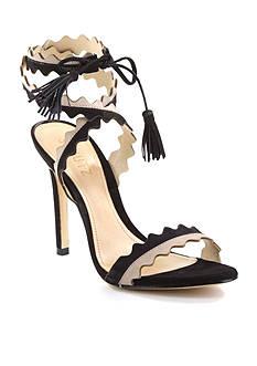 Schutz Lisana 2 Tone Ankle Wrap Heel