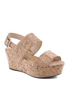 Schutz Double Strap Wedge Sandal