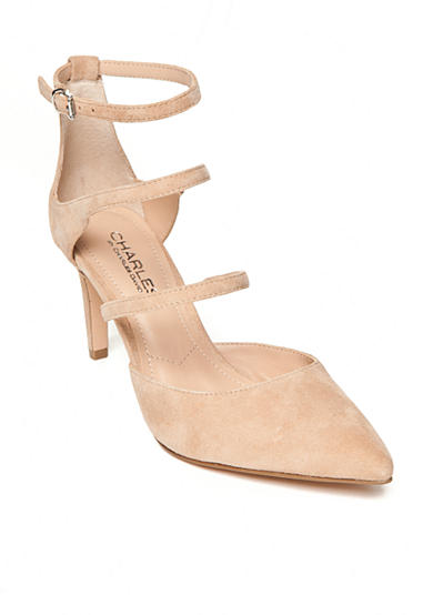 Charles by Charles David Lena 3 Strap Pumps
