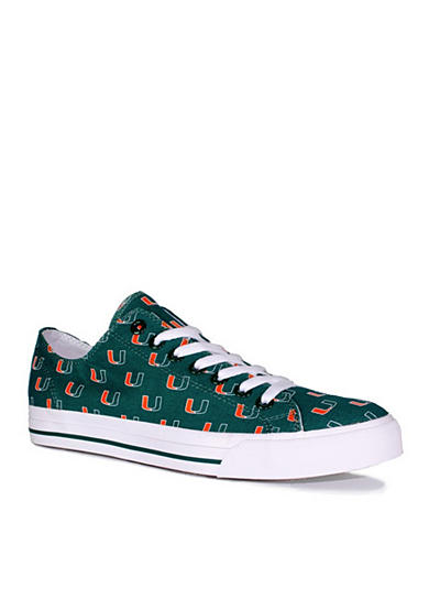 Row One Brands® Unisex University of Miami Low Top Shoes