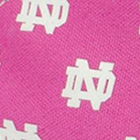 College Shoes Men: Medium Pink Row One Brands Unisex University of Notre Dame Low Top