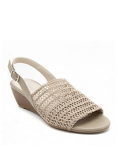 London Fog® London Fog Women's Baley Stretch Macram?? Slingback Demi-Wedge Sandal