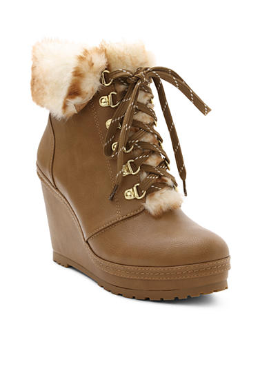 Nanette Nanette Lepore™ Malee Platform Wedge Bootie with Faux Fur Collar