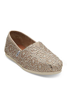 TOMS Classic Slip On Crochet Flats
