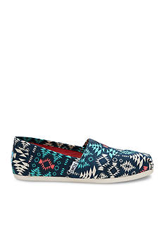 TOMS Classic Slip-on Blue Blanket Print