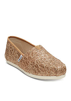 TOMS Classic Slip On Lace Flats