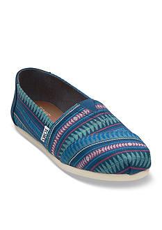 TOMS Seasonal Classic Cobalt Tribal Slip-On Shoe