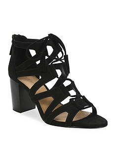 Tahari Abella Lace Up Stacked Heel