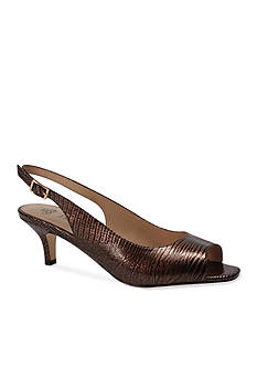 J Reneé Classic Peep-Toe Slingback - Available in Extended Sizes