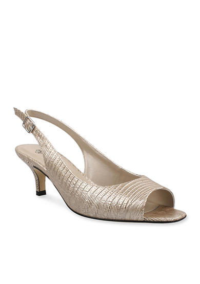 J Reneé Classie Peep-Toe Slingback - Available in Extended Sizes