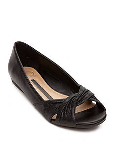 New Directions® Hillary Twisted Open Toe Flat