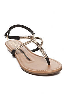 New Directions Isabella Woven Thong Sandal