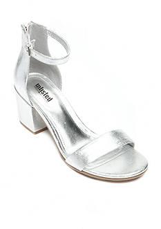 UNLISTED Clear Mirror Block Heel Sandal