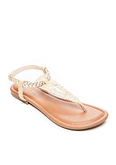 Rampage Posted Whipstitch Flat Sandal