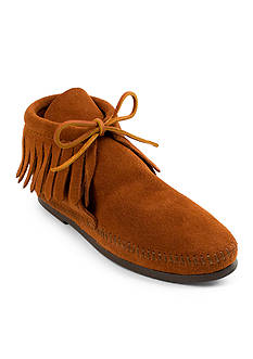 Minnetonka Classic Fringe Hard-Sole Boot