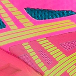 Tennis Shoes for Women: Hot Pink/    Sharp Green ASICS Women's Fuzex Lyte Running Shoe