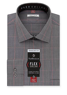 Van Heusen Dress Shirts Wrinkle Free Flex Collar Regular Fit Dress Shirt