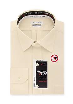 Van Heusen Wrinkle Free Regular-Fit Magna Click Dress Shirt