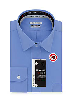 Van Heusen Wrinkle Free Regular-Fit Magna Click Dress Shirt