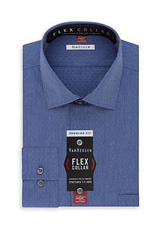 Van Heusen Wrinkle Free Flex Collar Regular Fit Dress Shirt