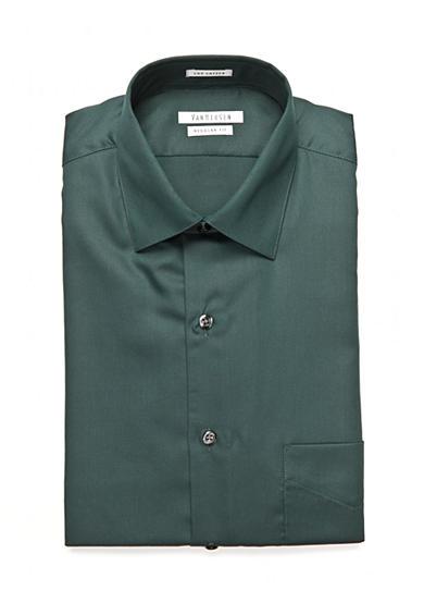 Van heusen wrinkle free regular fit dress shirt belk for Van heusen men s regular fit pincord dress shirt