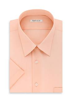 Van Heusen Short Sleeve Poplin Dress Shirt
