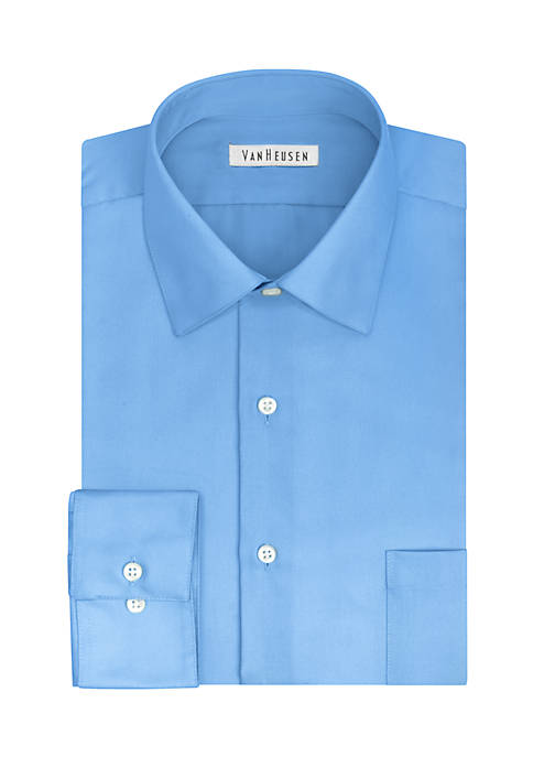 Van heusen big tall wrinkle free solid sateen dress Best wrinkle free dress shirts