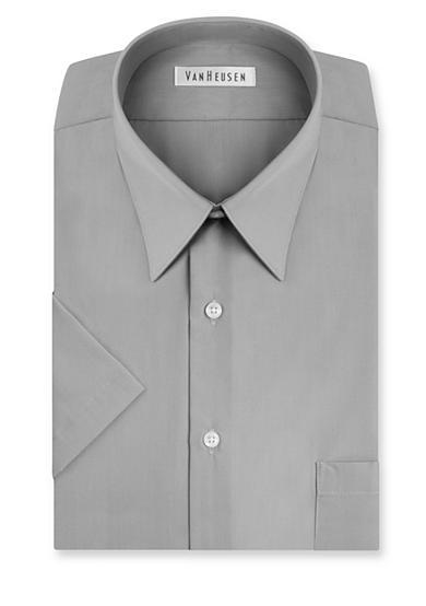 Van Heusen Big Tall Short Sleeve Wrinkle Free Poplin