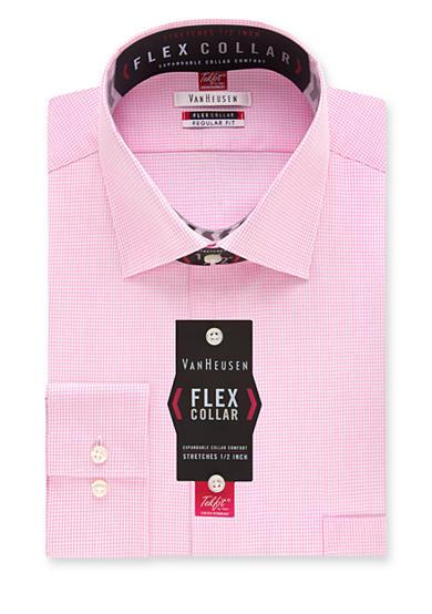 Van heusen big tall wrinkle free flex collar dress shirt for Van heusen shirts flex collar