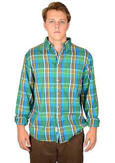 Vintage 1946 Plaid Teal Shirt