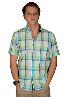 Vintage 1946 Vintage White Plaid Short Sleeve Shirt