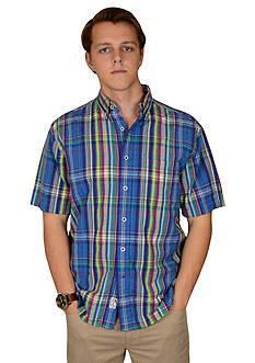 Vintage 1946 Vintage Blue Plaid Short Sleeve Shirt