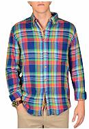 Vintage 1946 Yarn Dyed Southern Plaid Woven Shirt