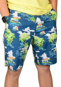 Vintage 1946 Tropical Print Short