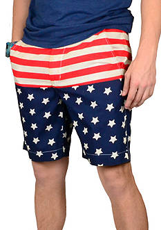 Vintage 1946 Vintage Americana Color Block Short