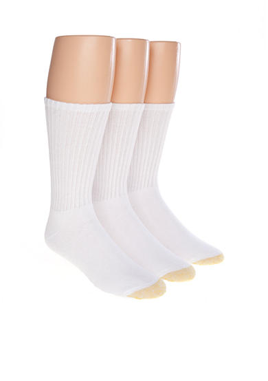 Gold Toe® 3-Pack Ultra Tec Crew Socks