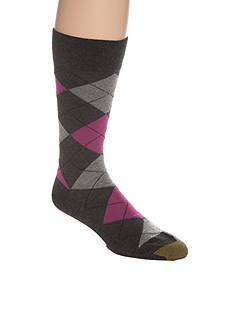 Gold Toe® Combed Cotton Argyle Crew Socks - Single Pair