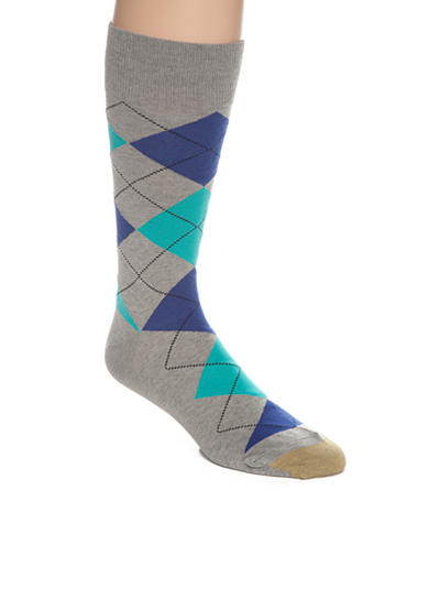 Gold Toe® Gold Toe® Combed Cotton Argyle Crew Socks - Single Pair