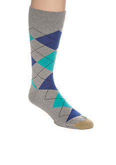 Gold Toe® Combed Cotton Argyle Crew Socks - Single Pair
