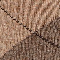 Mens Casual Socks: Khaki Heather Gold Toe Men's Argyle Crew Socks - Single Pair