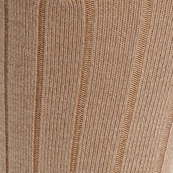 Mens Casual Socks: Khaki Marl Gold Toe Men's Ultra Soft Rib Crew Socks - Single Pair