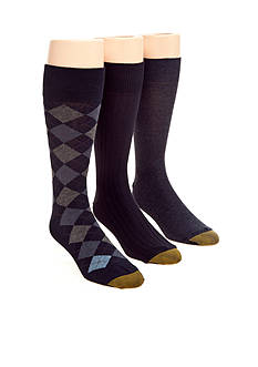 Gold Toe Argyle Classic Socks - 3 Pack
