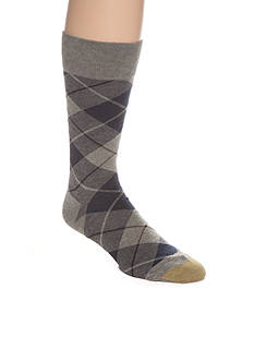 Gold Toe Bias Plaid Crew Socks - Single Pair