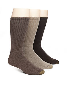 Gold Toe Big & Tall Harrington Cotton Crew Socks - 6 Pack