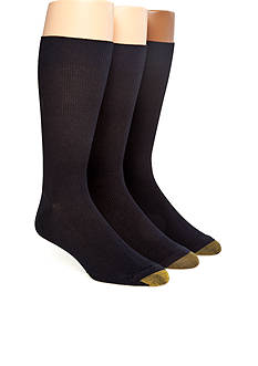 Gold Toe® Metropolitan 3-Pack Crew Dress Socks
