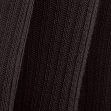 Mens Socks: Black Gold Toe 3-Pack Cotton Ribbed Socks