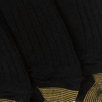 Gold Toe: Black Gold Toe Big & Tall 3 Pack Canterbury Dress Socks