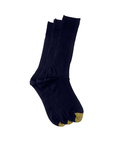 Gold Toe® Big & Tall 3 Pack Canterbury Dress Socks
