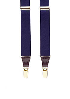 Saddlebred® 32-mm. Solid Stretch Clip Suspenders