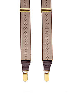 Saddlebred® Tonal Diamond Clip Suspenders
